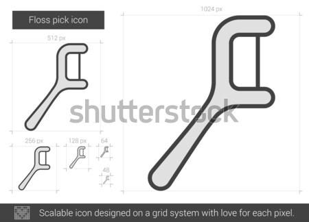Floss pick line icon. Stock photo © RAStudio