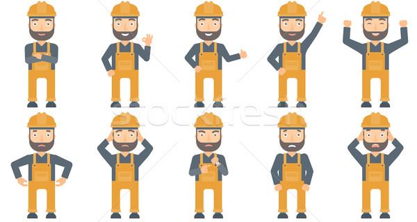 Vector set of constructors and builders characters Stock photo © RAStudio