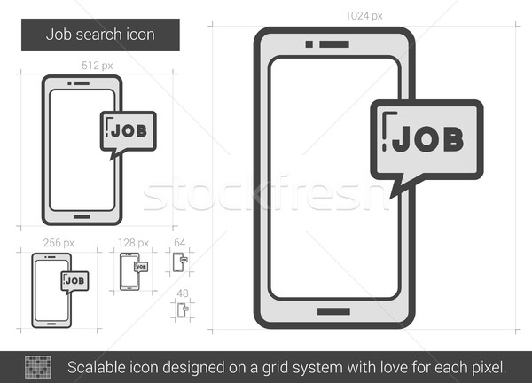 Job search line icon. Stock photo © RAStudio