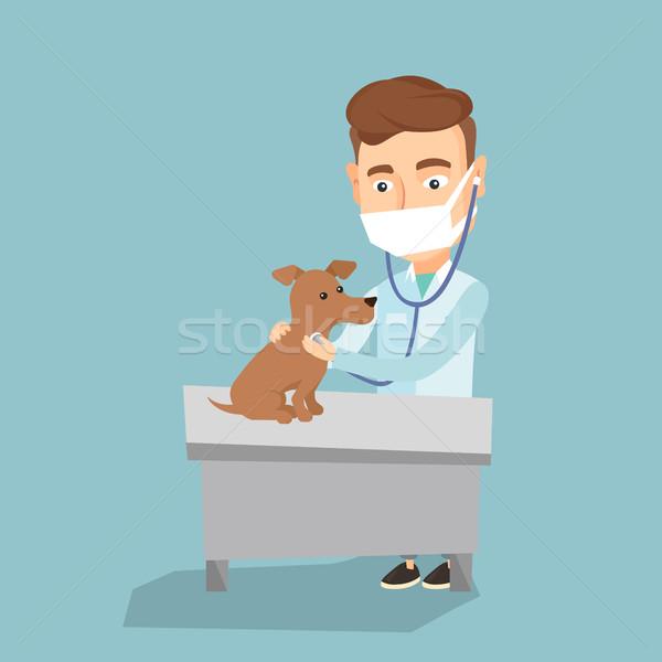 ветеринар собака молодые кавказский больницу Сток-фото © RAStudio