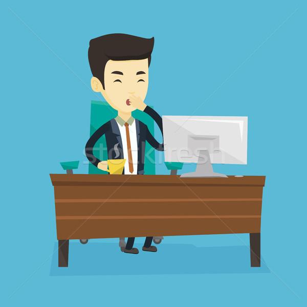 疲れ 従業員 オフィス 眠い ビジネスマン ストックフォト © RAStudio