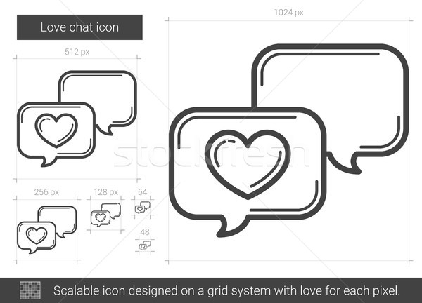 Love chat line icon. Stock photo © RAStudio