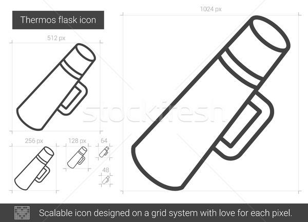 Thermos flask line icon. Stock photo © RAStudio