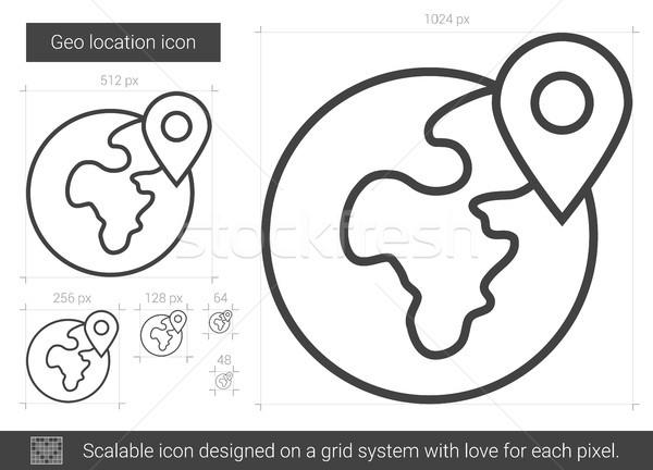 Geo location line icon. Stock photo © RAStudio