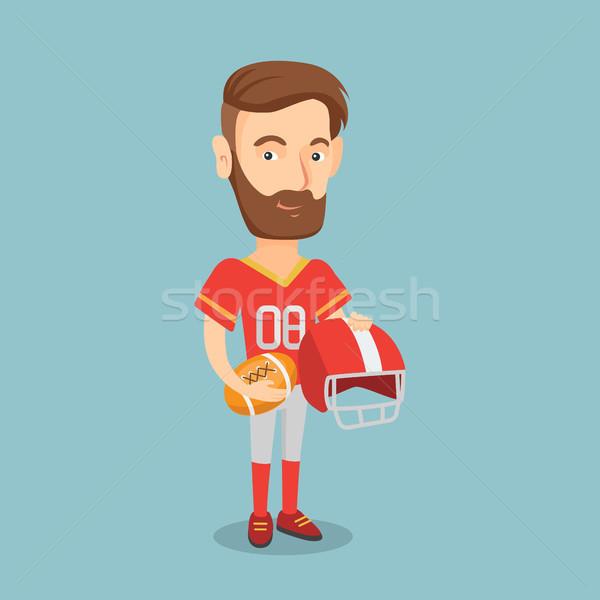 Rugby jogador barba bola Foto stock © RAStudio