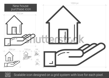 New house purchase line icon. Stock photo © RAStudio