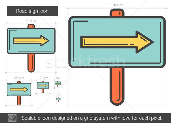 Road sign line icon. Stock photo © RAStudio