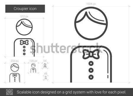 Croupier line icon. Stock photo © RAStudio
