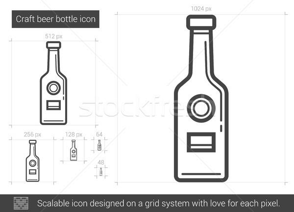 Craft beer bottle line icon. Stock photo © RAStudio