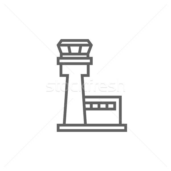 Flight control tower line icon. Stock photo © RAStudio