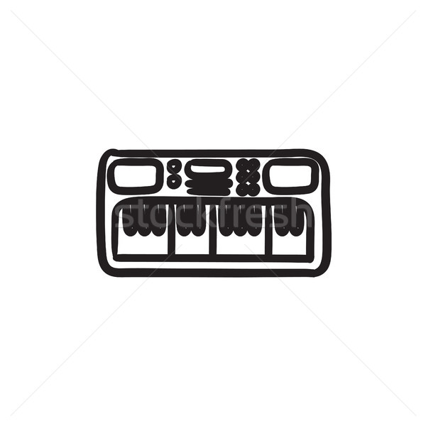 Synthesizer sketch icon. Stock photo © RAStudio
