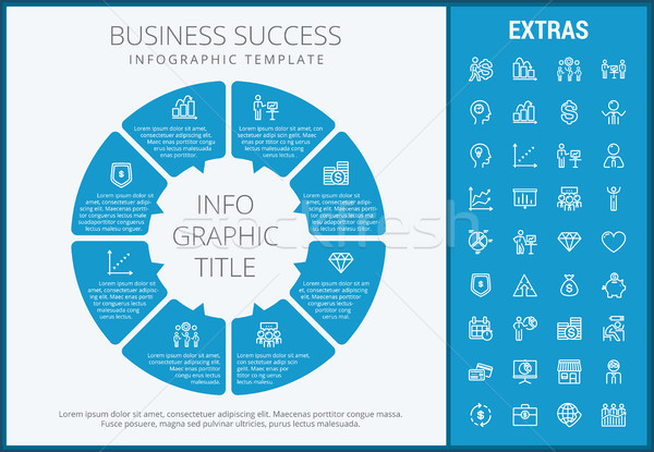 Business success infographic template and elements Stock photo © RAStudio