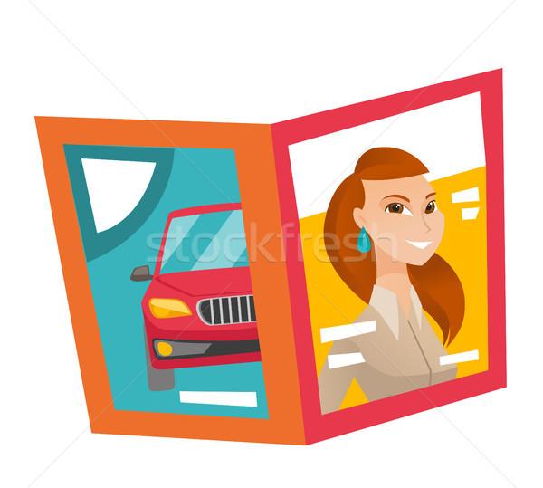 Fashion magazine vector cartoon illustration. Stock photo © RAStudio