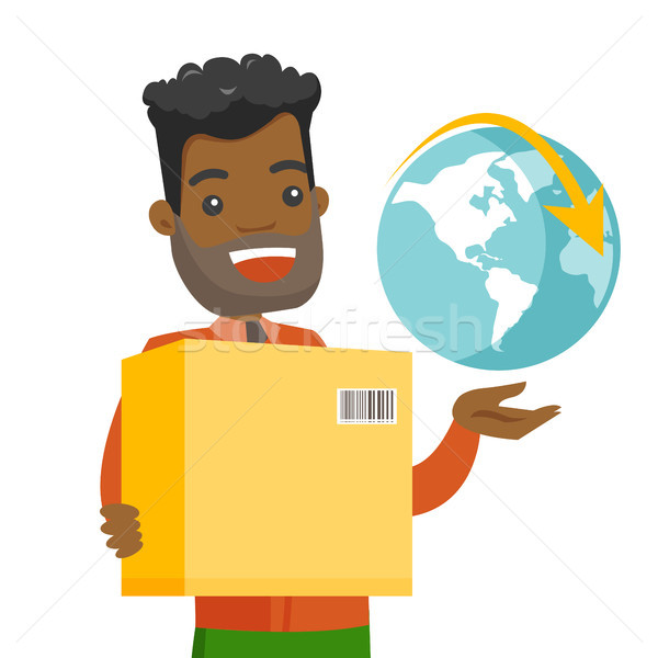 Business worker of international delivery service. Stock photo © RAStudio