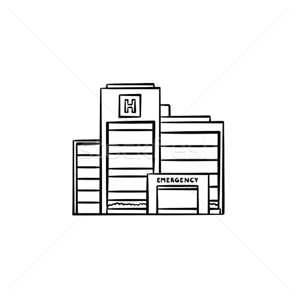 Hospital building hand drawn outline doodle icon. Stock photo © RAStudio