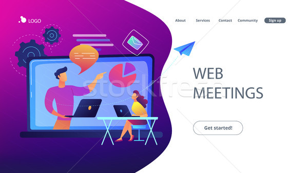 Web meetings landing page. Stock photo © RAStudio