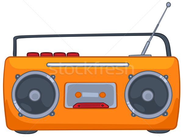 Cartoon Appliences Recorder Stock photo © RAStudio