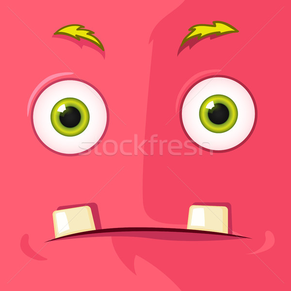 Monstro avatar engraçado vetor eps Foto stock © RAStudio