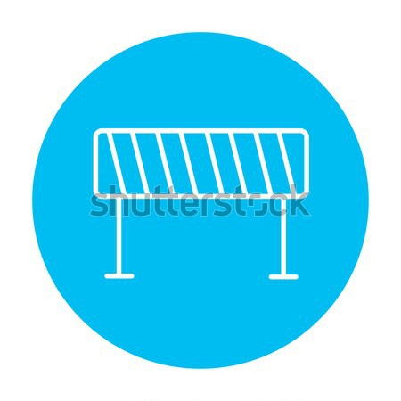 Road Barrier thin line icon Stock photo © RAStudio
