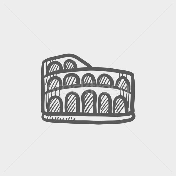 Coliseum sketch icon Stock photo © RAStudio