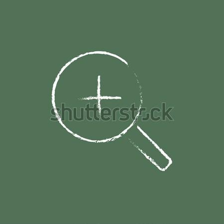 Zoom icona gesso lavagna Foto d'archivio © RAStudio