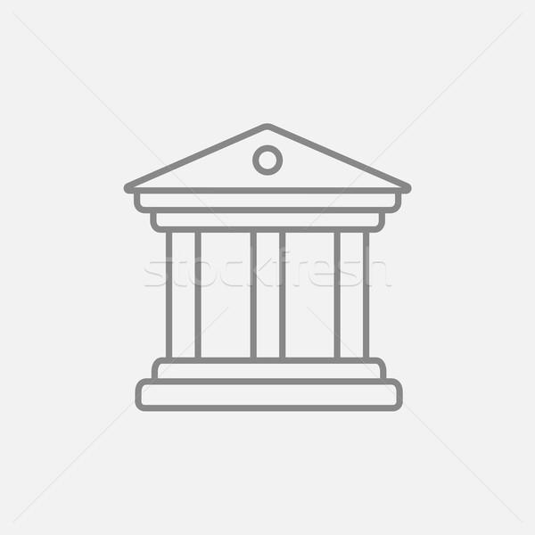Museo línea icono web móviles infografía Foto stock © RAStudio