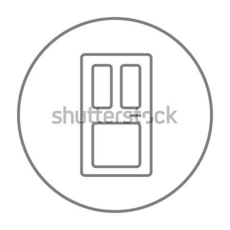 Porte d'entrée ligne icône web mobiles infographie Photo stock © RAStudio