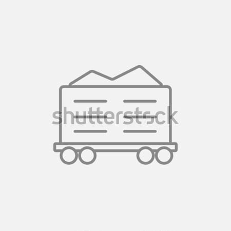 Teher vagon vonal ikon háló mobil Stock fotó © RAStudio