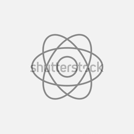 Atoom lijn icon web mobiele infographics Stockfoto © RAStudio