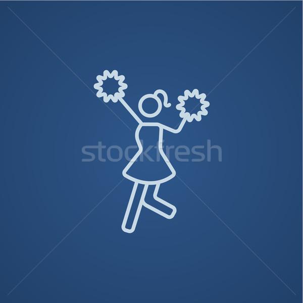 Cheerleader line icon. Stock photo © RAStudio