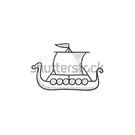 Old ship line icon. Stock photo © RAStudio