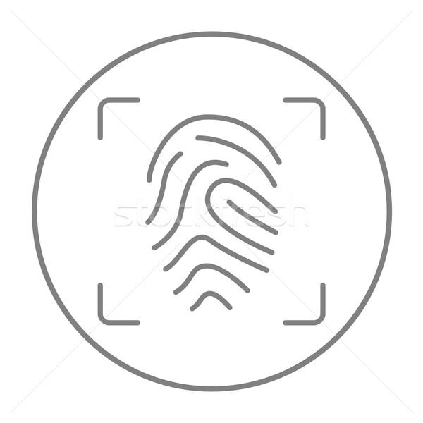отпечатков пальцев линия икона веб мобильных Инфографика Сток-фото © RAStudio