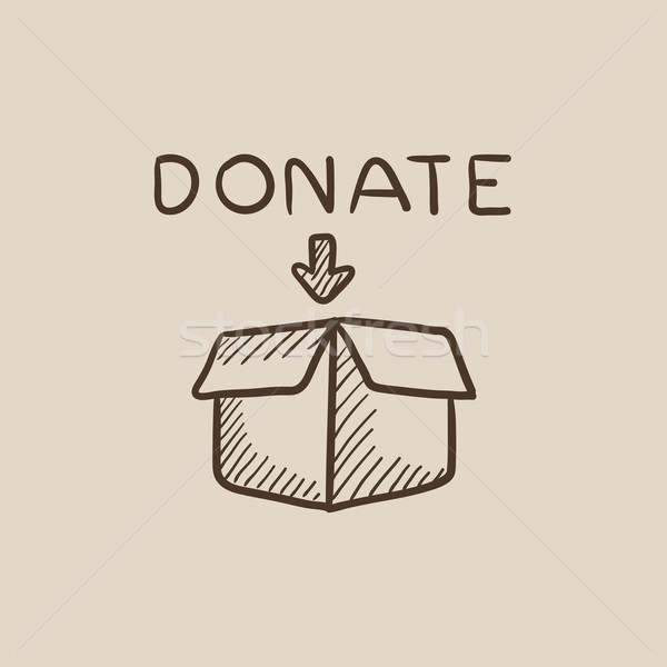 Donation box sketch icon. Stock photo © RAStudio