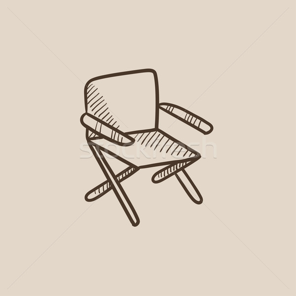 Folding chair sketch icon. Stock photo © RAStudio