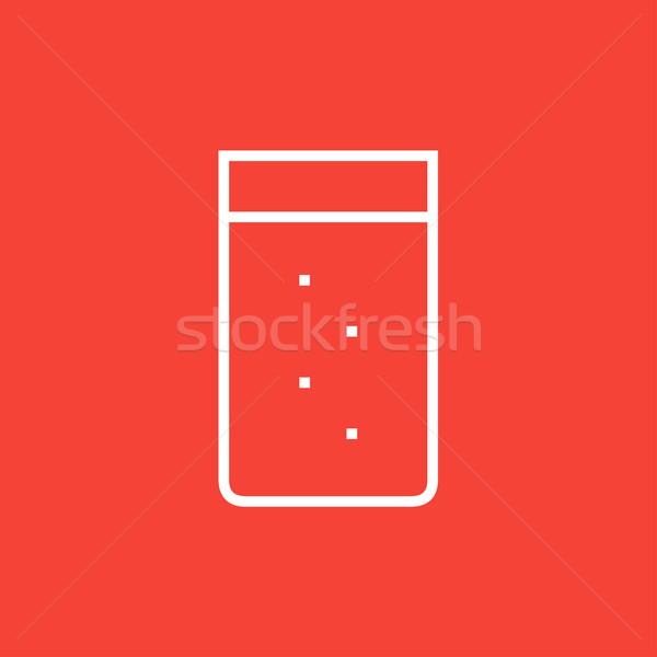 Glass of water line icon. Stock photo © RAStudio