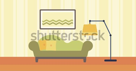 Wohnzimmer sofa bild wand vektor design vektor for Bild wand wohnzimmer