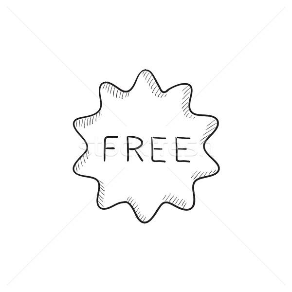 Free tag sketch icon. Stock photo © RAStudio