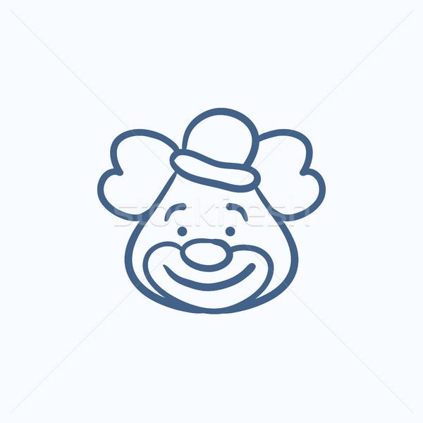 Clown sketch icon. Stock photo © RAStudio