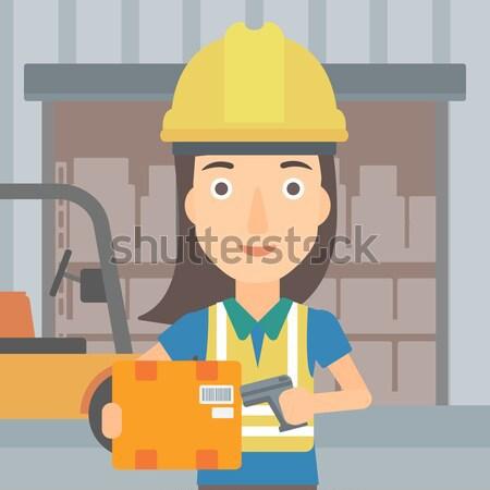 ストックフォト: 女性 · 作業 · 産業 · 訓練 · マシン · アジア