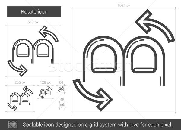 вращать линия икона вектора изолированный белый Сток-фото © RAStudio