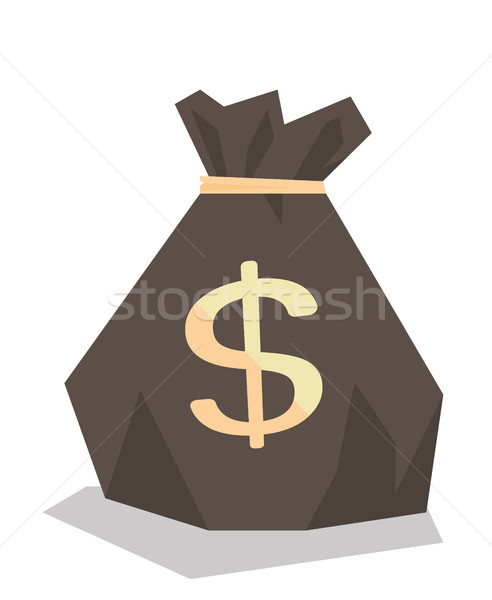 Pénz táska dollárjel vektor terv illusztráció Stock fotó © RAStudio
