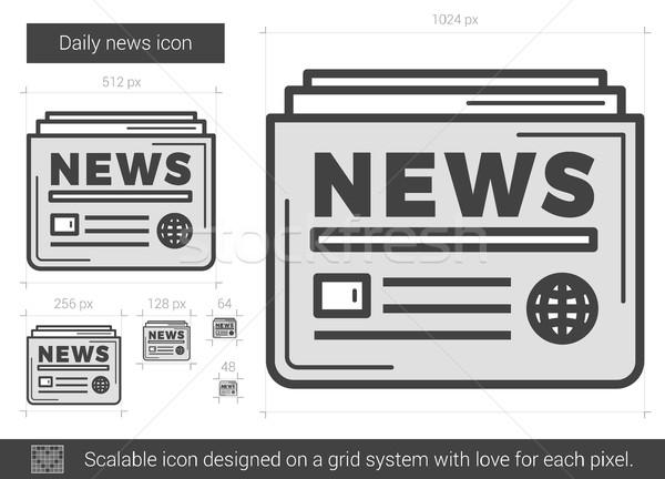 Tous les jours nouvelles ligne icône vecteur isolé Photo stock © RAStudio
