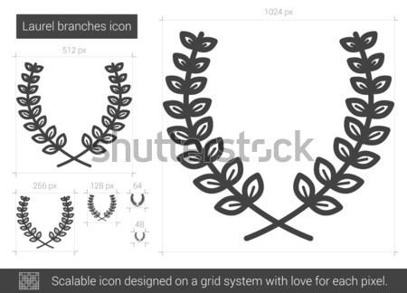 лавры линия икона вектора изолированный Сток-фото © RAStudio