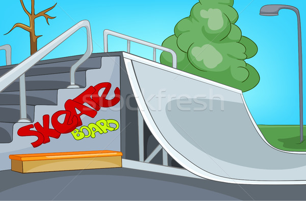 Cartoon background of skatepark. Stock photo © RAStudio