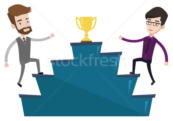 Two men competing for the business award. Stock photo © RAStudio
