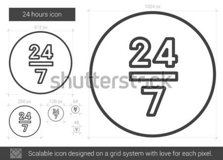 Veinte cuatro línea icono 24 vector Foto stock © RAStudio