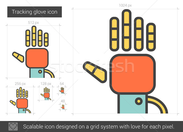 Tracking glove line icon. Stock photo © RAStudio