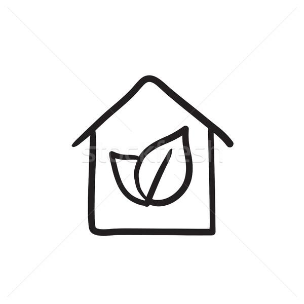 дома эскиз икона вектора изолированный рисованной Сток-фото © RAStudio