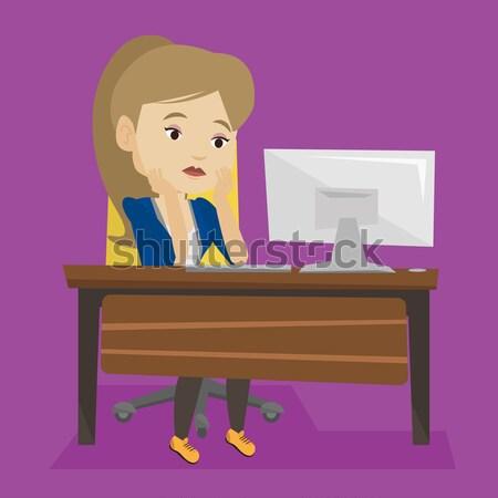 épuisé triste employé travail bureau séance Photo stock © RAStudio