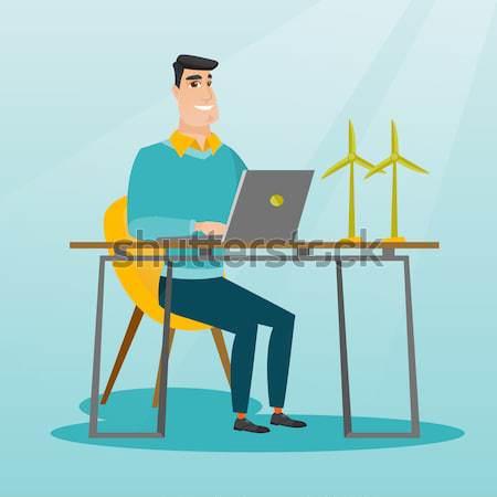 男 作業 モデル 風力タービン アジア ワーカー ストックフォト © RAStudio